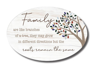 OVAL CERAMIC PLAQUES - FAMILY BRANCHES