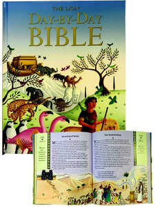 CATHOLIC PICTURE BIBLE - WHITE PADDED COVER - GIFT BOXED - 240 PG