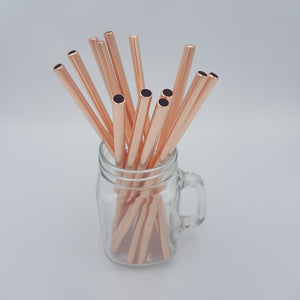 Metal Straws - Rose Gold