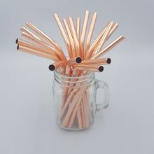 Load image into Gallery viewer, Metal Straws - Rose Gold
