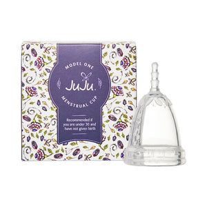 JuJu Menstrual Cup- Model 1 Clear