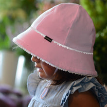 Load image into Gallery viewer, Ruffle Trim Toddler Bucket Hat - Blush