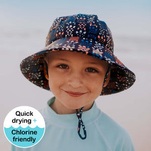 Kids Beach Bucket Hat 'Turtle' Print