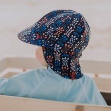Load image into Gallery viewer, Beach Legionnaire Flap Hat 'Turtle' Print
