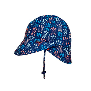 Beach Legionnaire Flap Hat 'Turtle' Print