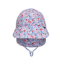 Load image into Gallery viewer, Beach Legionnaire Flap Hat 'Posie' Print