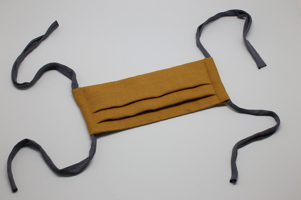 Deep Mustard Linen - Reusable Cloth Mask