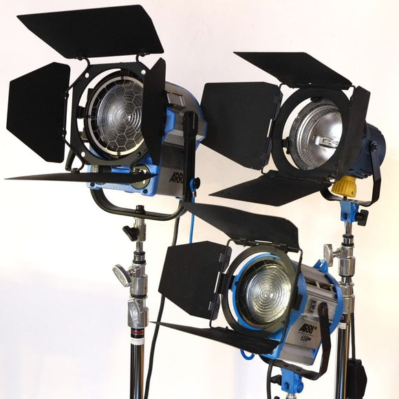 Arri Fresnel 3-light kit (2650W total)