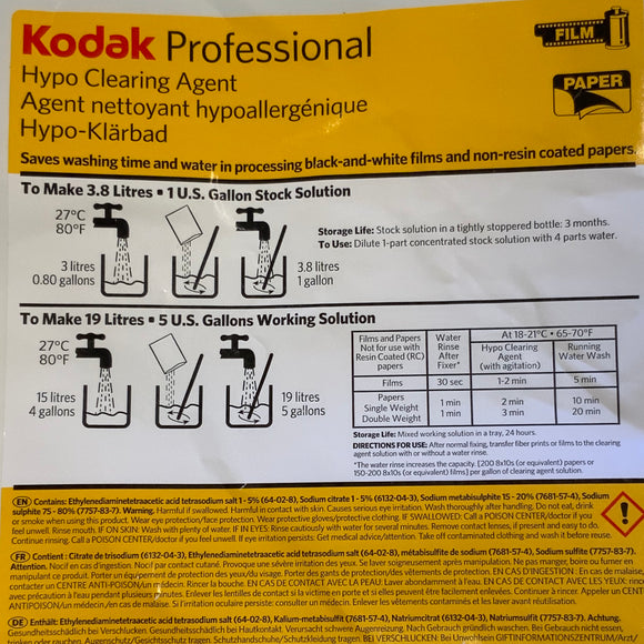Kodak Hypo Clearing Agent