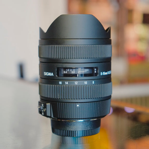 Sigma EX 8-16mm f4.5-5.6 DC HSM for Nikon F