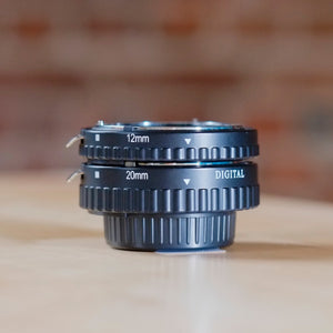 Two-piece extension tube set for Nikon F