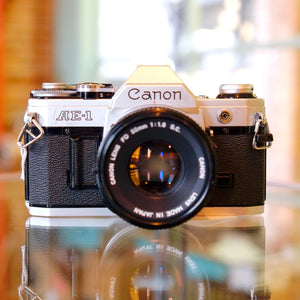 Canon AE-1 with Canon FD 50mm f1.8