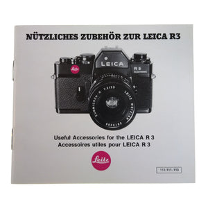 Leica R3 Accessories Brochure.