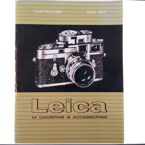 Leica M Cameras & Accessories Catalog no. 37.