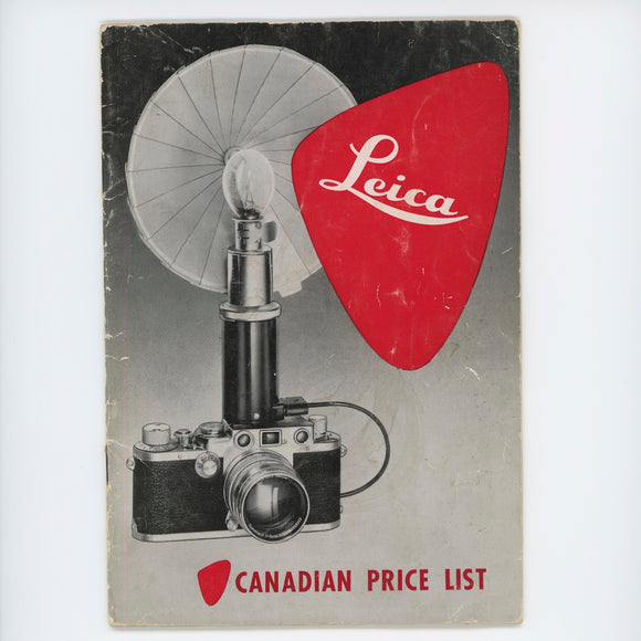 Leica Canadian Price List