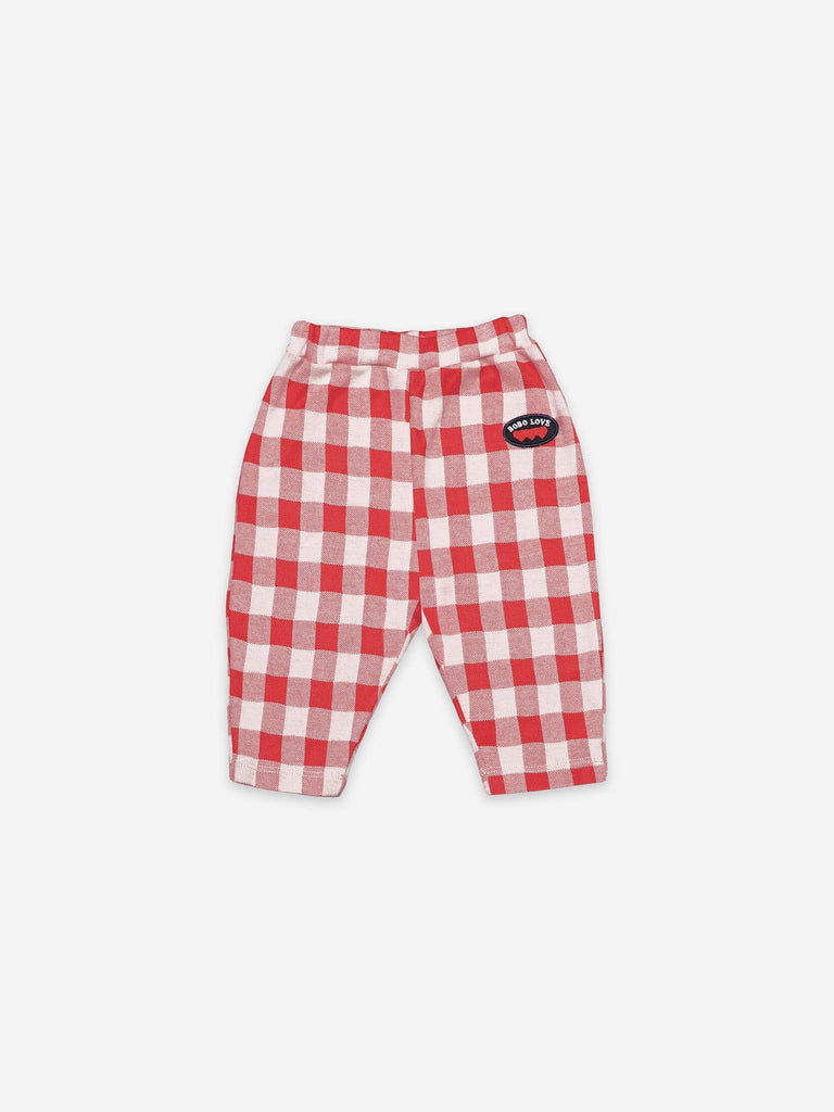 Bobo Choses Vichy Jersey Trousers