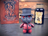 Red and Black Plague Voodoo Doll