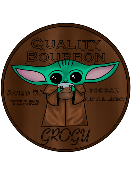 Grogu Bourbon Stickers