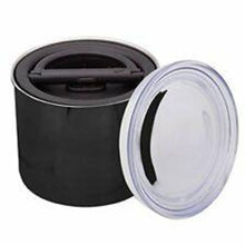 "Load image into Gallery viewer, Airscape Coffee Storage Container - 4"" Black"