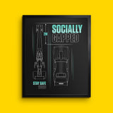 Socially Gapped - Wall Print
