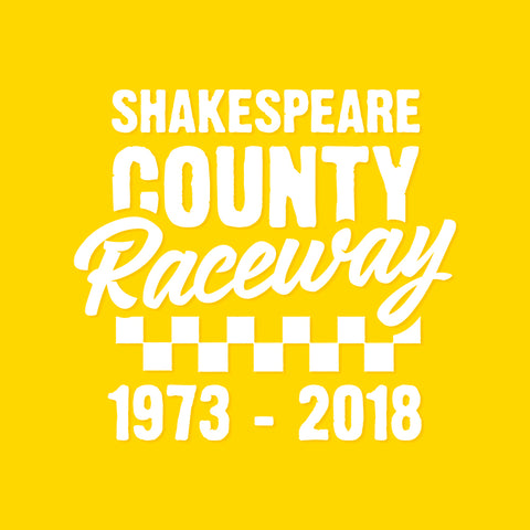 Shakespeare County Raceway - White Vinyl Decal/Sticker