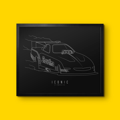 ICONIC x Showtime - Wall Print - Black