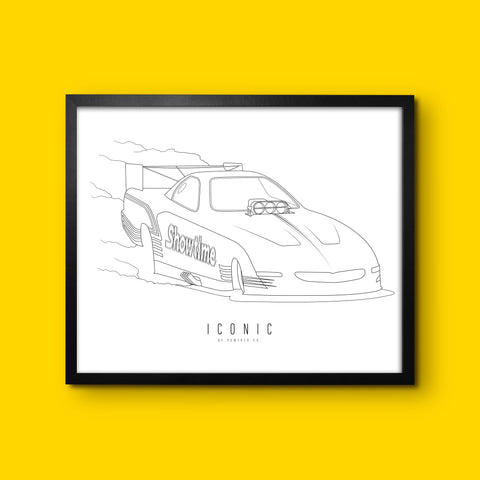 ICONIC x Showtime - Wall Print - White