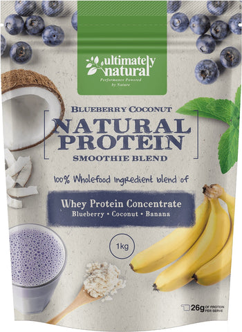 Blueberry & Coconut | Natural Whey Protein Powder - Ultimately Natural