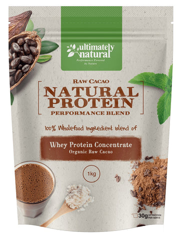 Organic Raw Cacao | Natural Whey Protein Powder - Ultimately Natural