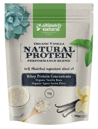Organic Vanilla | Natural Whey Protein Powder - Ultimately Natural
