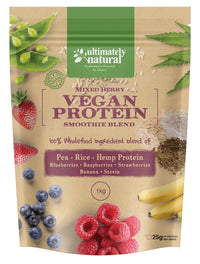 Mixed Berry | Natural Vegan Protein Powder - Ultimately Natural