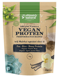 Organic Vanilla Bean | Natural Vegan Protein Powder - Ultimately Natural