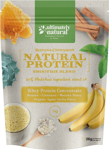 Real Banana & Cinnamon | Natural Whey Protein Powder - Ultimately Natural