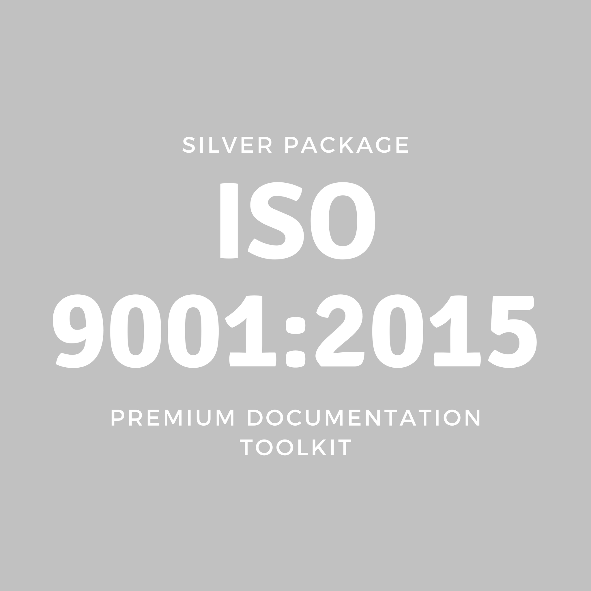 SILVER | ISO 9001: 2015 Premium Documentation Toolkit