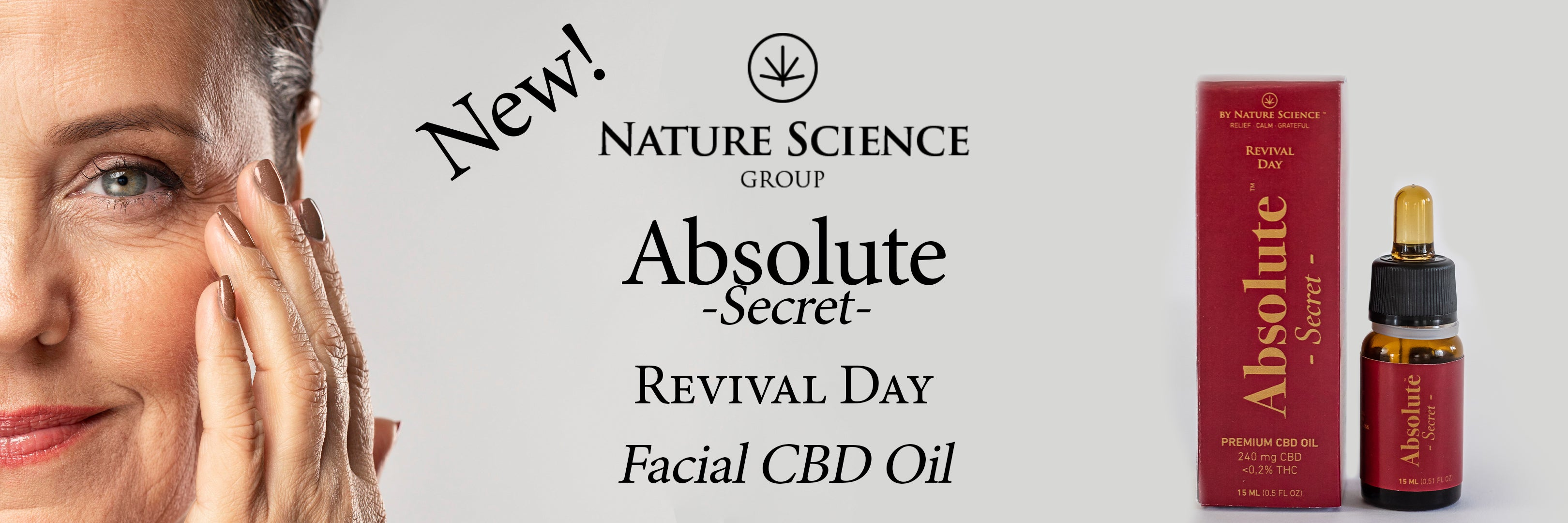Nature Science Group - Nature Science Absolute Secret CBD REVIVAL DAY facial oil