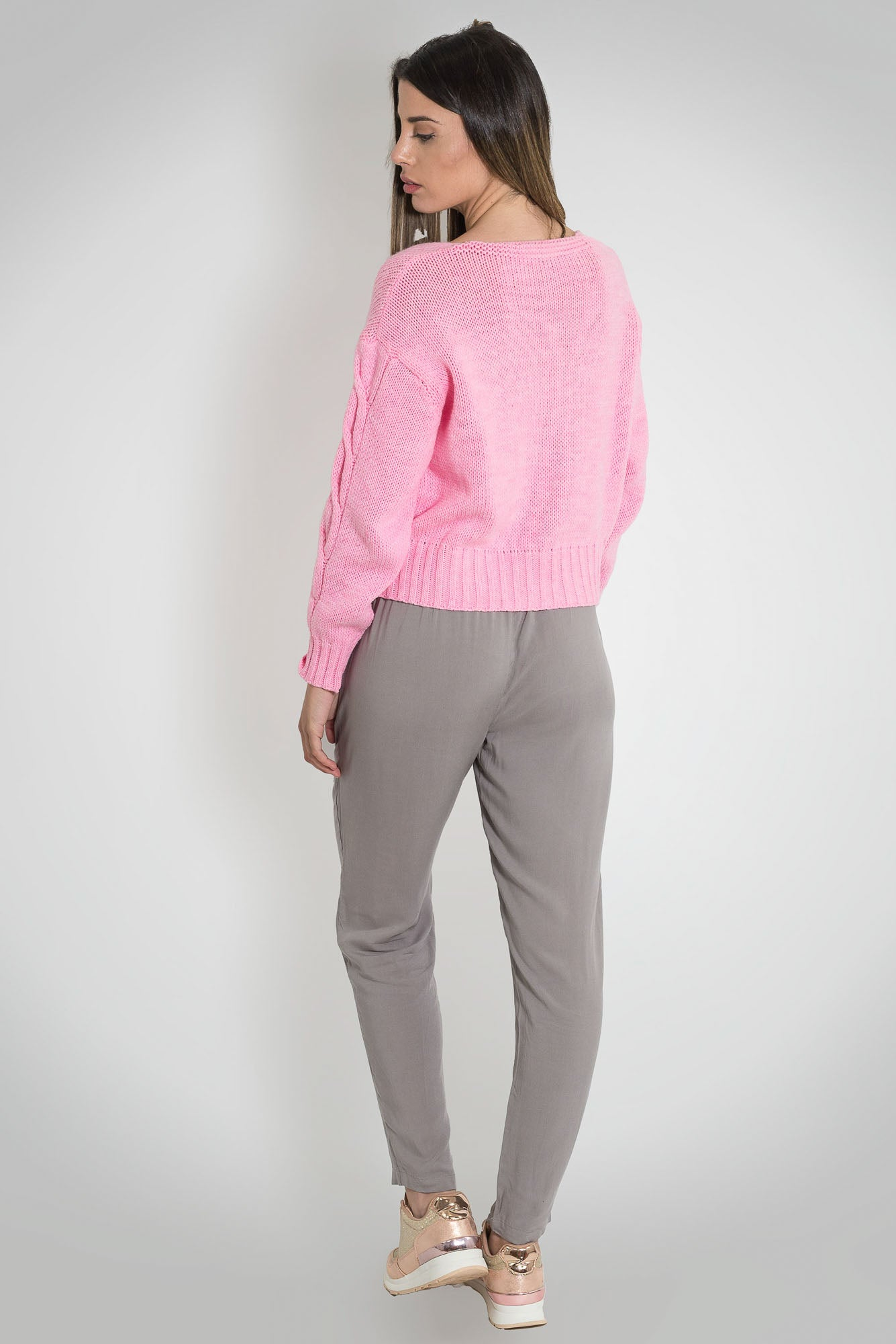Knitted Pink Sweater