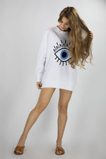 Load image into Gallery viewer, Oversized Eye Sweatshirt