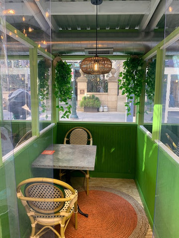 Bar Bombon restaurant Philadelphia outdoor dining tables and chairs