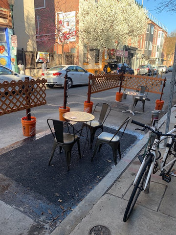 Miles Table restaurant Philadelphia outdoor dining tables and chairs