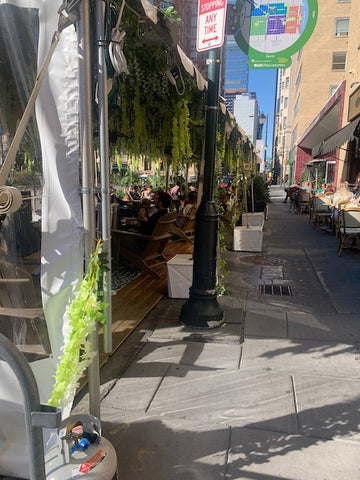 Rouge restaurant Philadelphia outdoor dining chairs tables