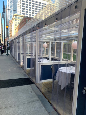 The Love restaurant Philadelphia outdoor dining tables and chairs