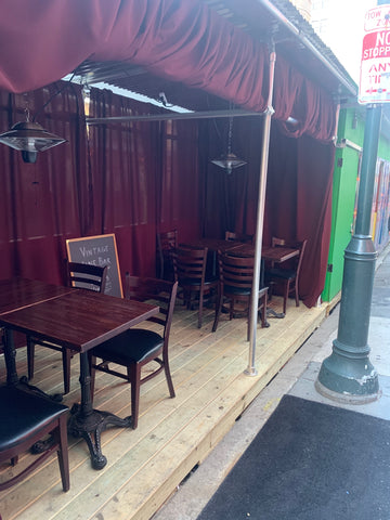 vintage wine bar outdoor dining tables and chairs