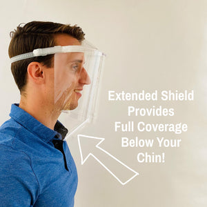 Lower Extended Face Shield (1 visor + 5 Lower Extended Shields)
