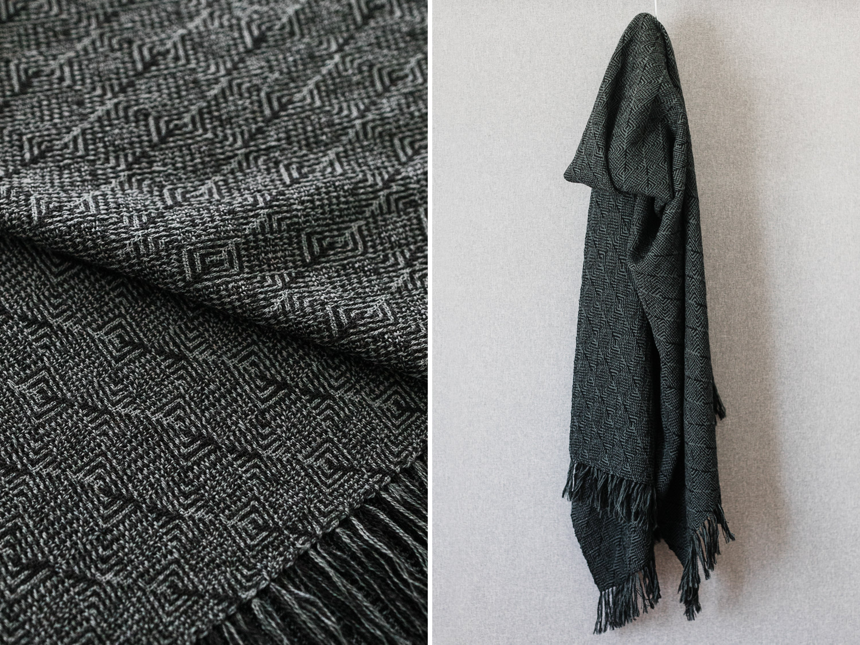 this darling home  finished handwoven scarf