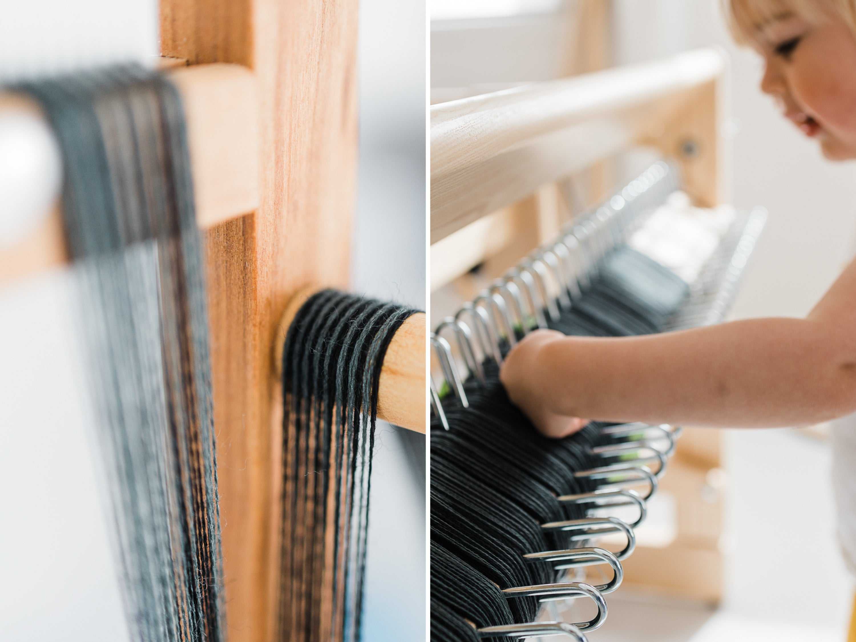 this darling home winding warp for custom handwoven scarf
