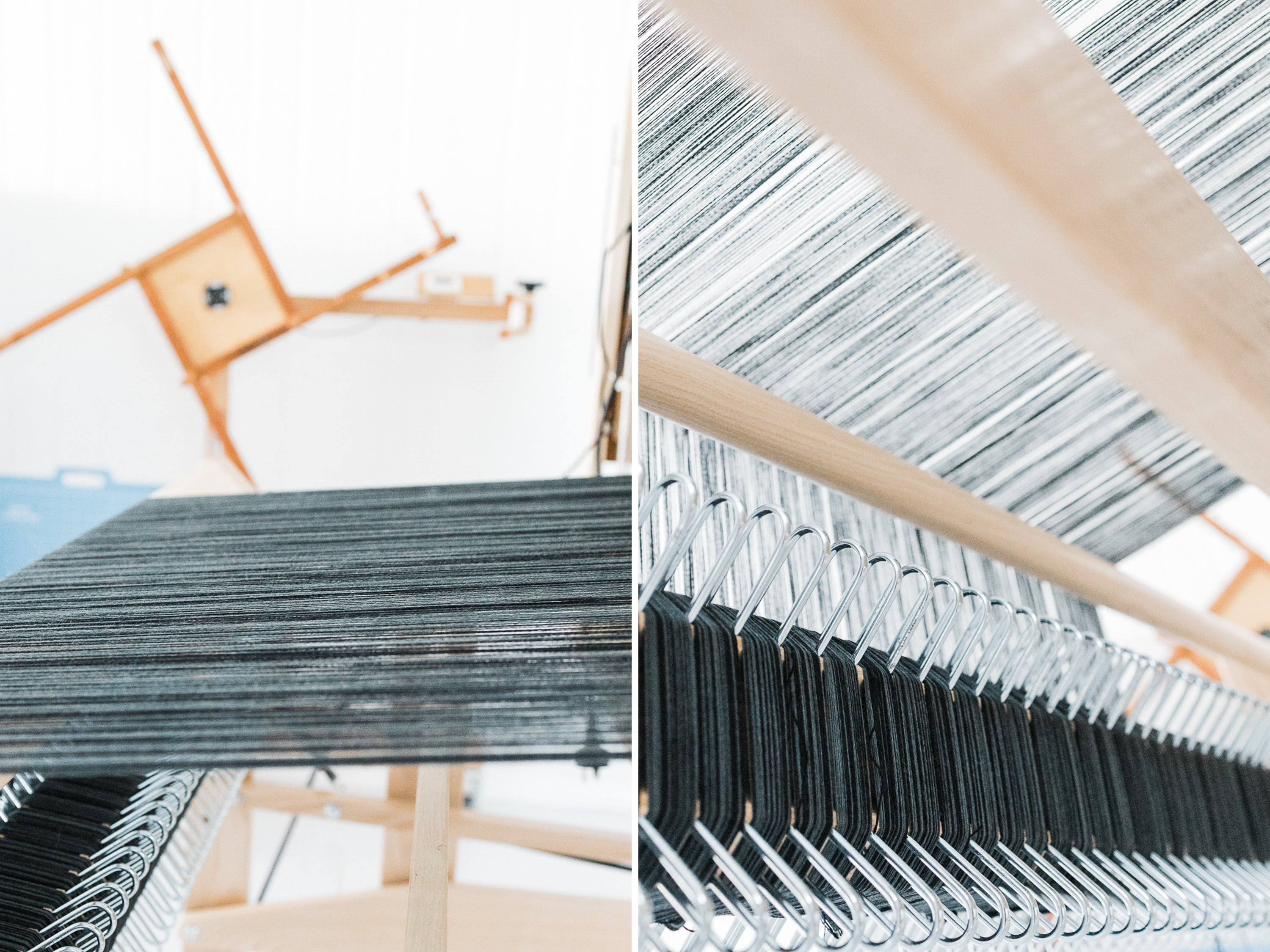 this darling home  wound warp on the loom
