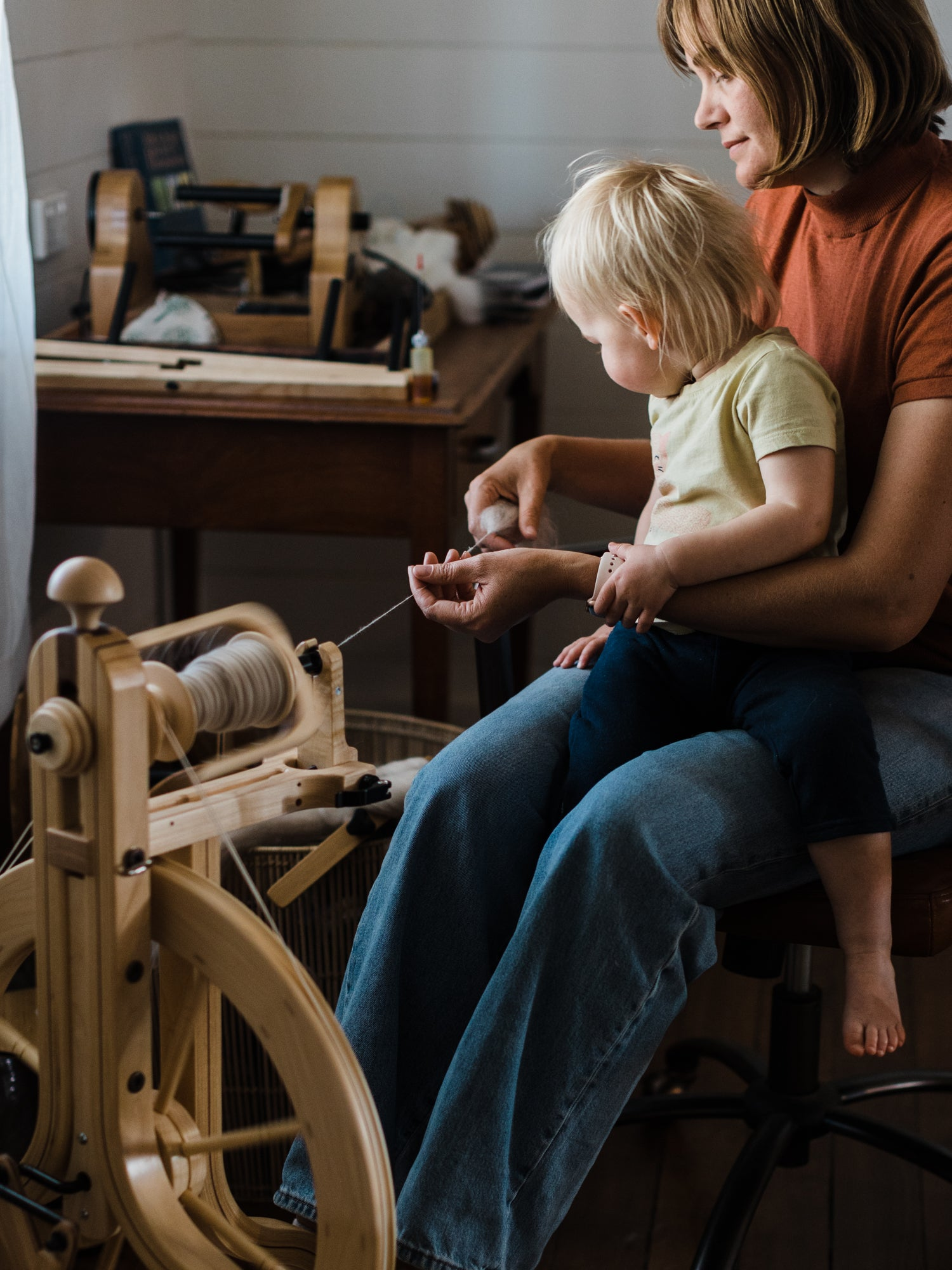 This darling home spinning yarn