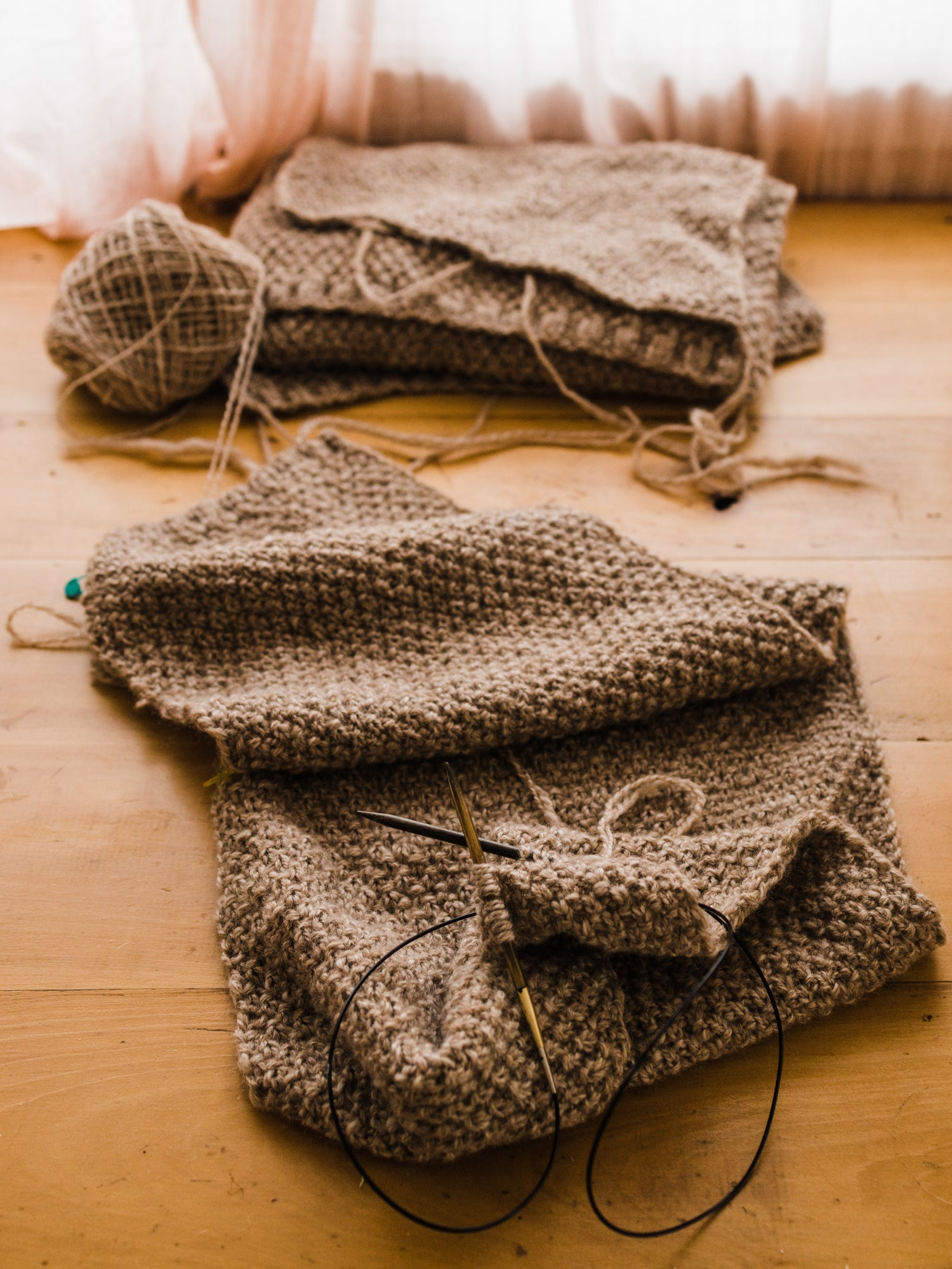 this darling home handspun and knit