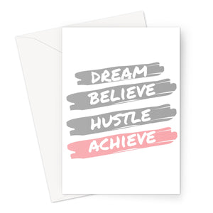Personalised Cards | Motivational | Dream, Hustle, Believe, Achieve