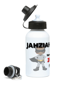 Kids Water Bottle -  Grey SuperHero